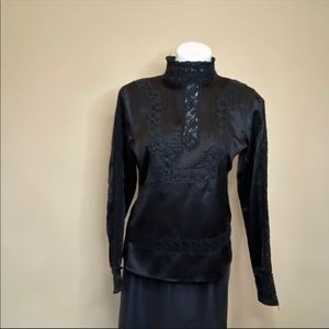 BCBGMAXAZRIA black silk blouse